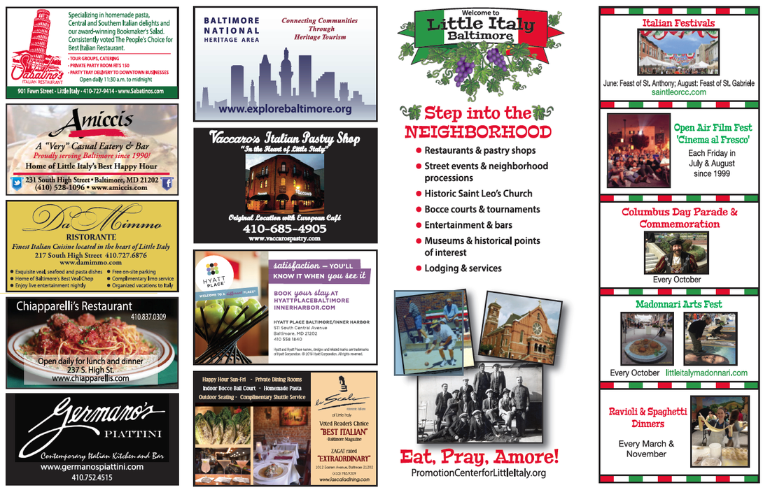 Map Promotion Center For Little Italy Baltimore